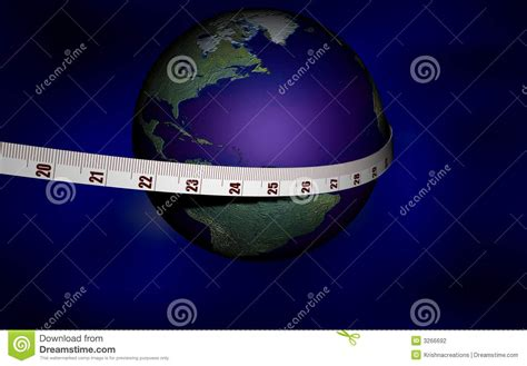 measuring the world measuring the world using a me stock photography image 3266692