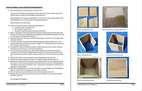 bumble bee house plans build bee box images