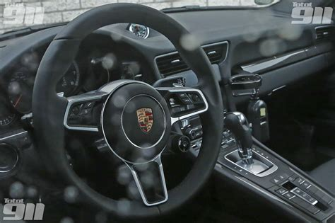 new porsche 911 interior world exclusive look inside the new porsche 991 2 with