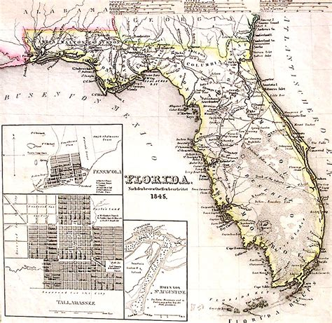 land grants map lighthouse books abaa 1845 florida map land grants