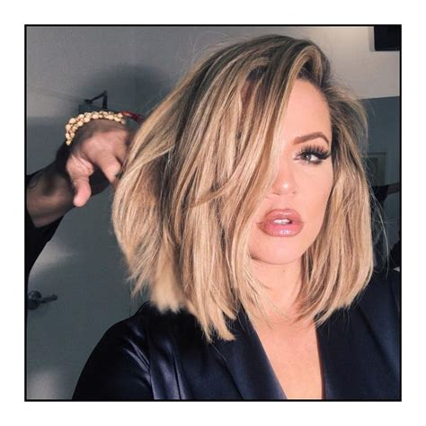 khloe kardashian s new lob 662 best images about hair short medium over 50 on