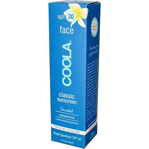 Theraskin Suncare Kl Spf 30 coola organic suncare collection classic sunscreen spf 30 unscented 1 7 fl oz 50 ml