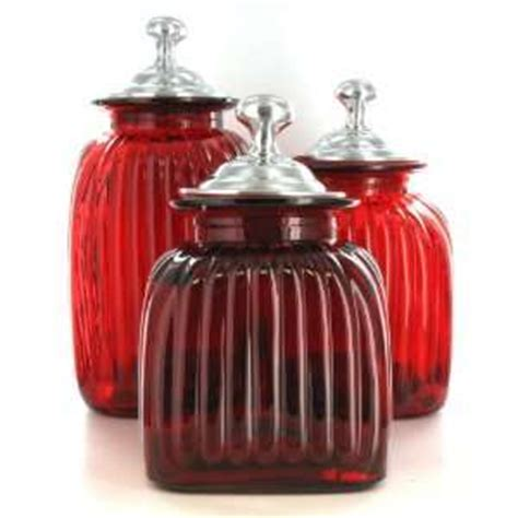 red glass kitchen canisters kitchen canister sets tuscan style on popscreen