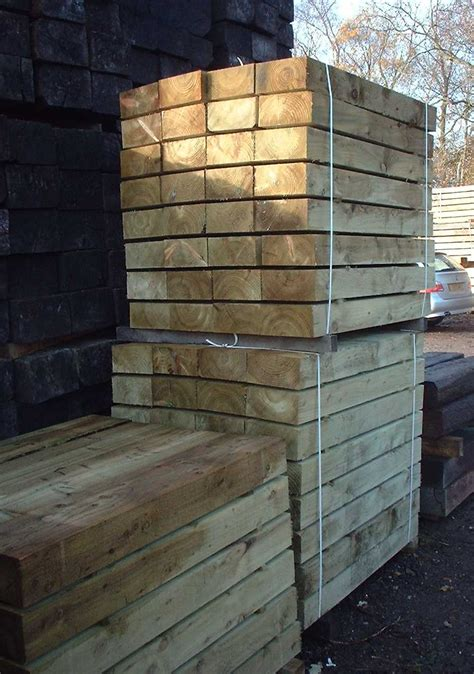 Where Can I Buy Railway Sleepers by New Eco Pine Railway Sleepers From Railway