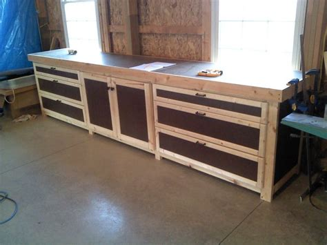 shop benches shop cabinets storage by greg lumberjocks com