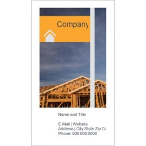 construction business card template word templates home construction business card 10 per