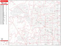 zip code map glendale az glendale arizona zip code wall map red line style by
