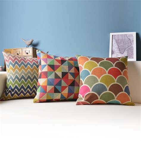 geometric cushion decorative pillows colorful cushions