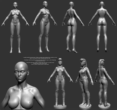 zbrush tutorial female body sf maya crimson viper