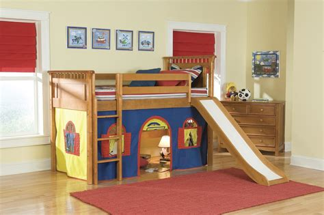kid bed with slide loft bed with slide home decorating ideas