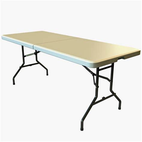 3d center folding table model