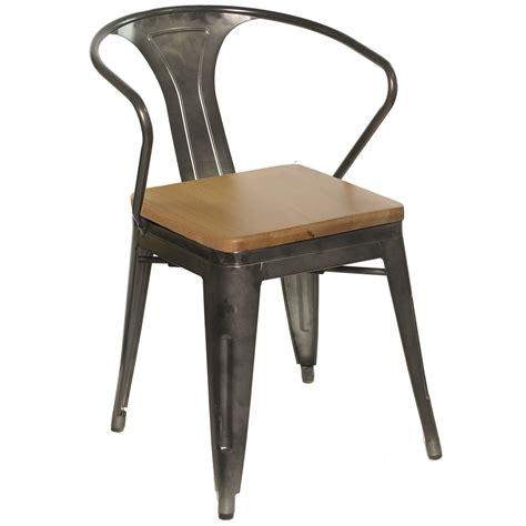 steel armchair chairs galvanized gunmetal steel arm chair