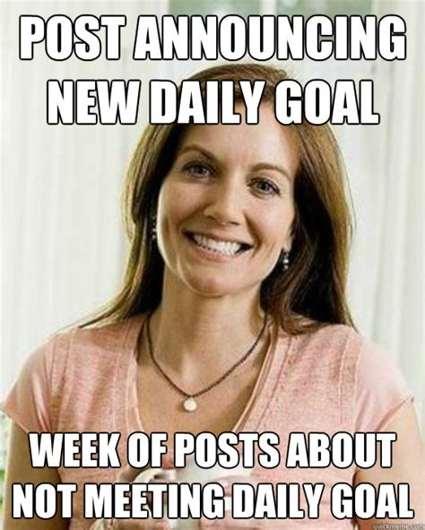New Mom Meme - post announcing new daily goal week of posts about not