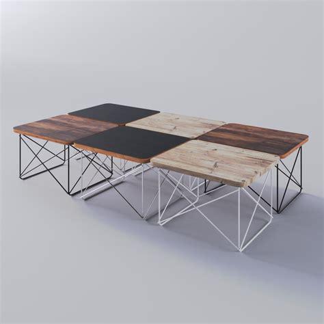 eames wire base table 3d eames wire base table