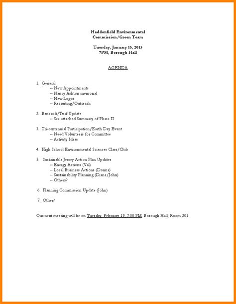 8 nonprofit board meeting agenda template letter format for