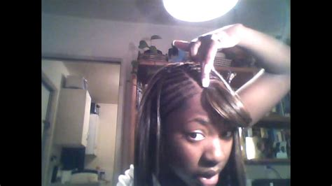 how to glue on a parting piece how to invisible part weave sew in with no glue youtube