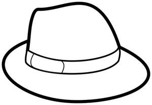 hat coloring page hat coloring pages 19