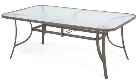 96  [ Glass Rectangular Patio Table ]   Glass Patio Table