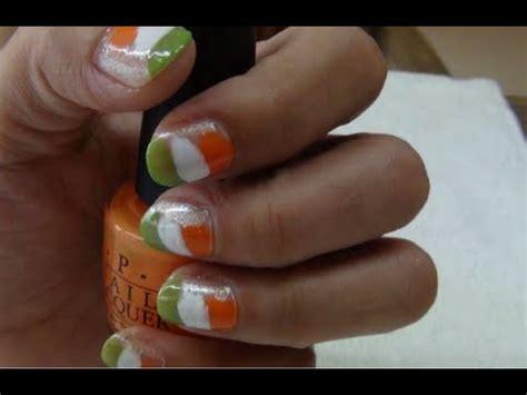 indian nail art tutorial indian national flag nail art tutorial youtube