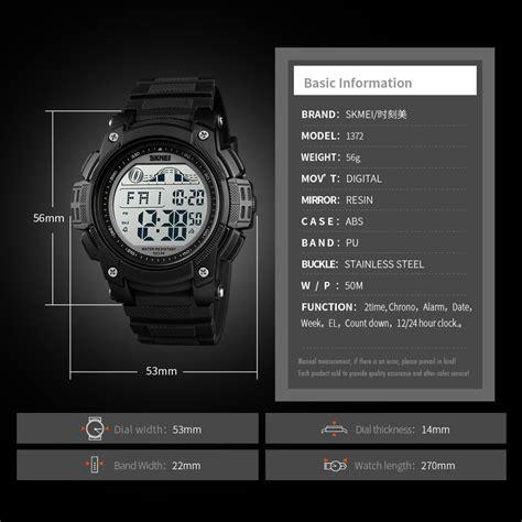 skmei jam tangan digital sporty pria  titanium