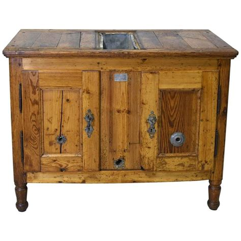 rustic cabinet late 19th century rustic european pine cabinet or box