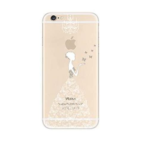 coque transparente gel souple avec impression motif fantaisie pour iphone 6 plus 6s plus robe