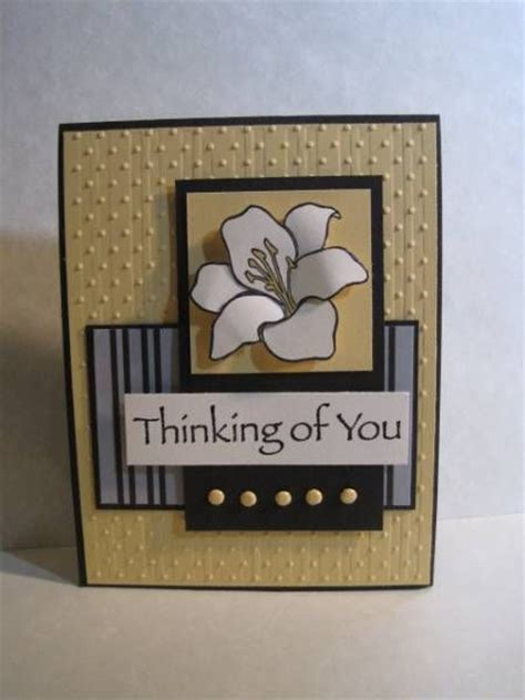 Handmade Thinking Of You Cards - thinking of you fith avenue floral handmade cards
