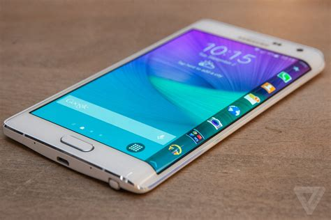 Samsung Note Edge samsung releases galaxy note edge with a curved display at one corner