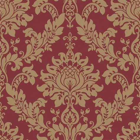 red damask wallpaper home decor red gold 33895 clara damask opus holden decor