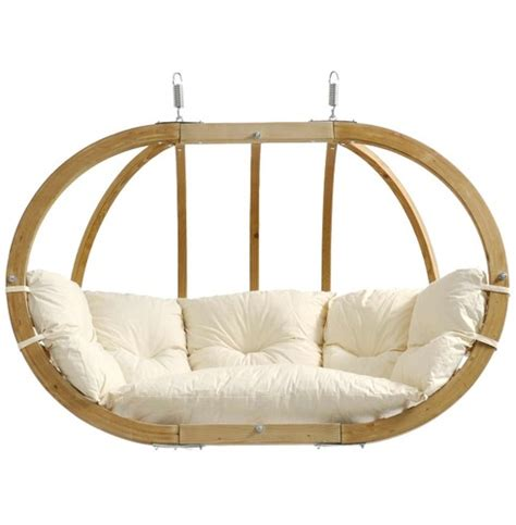 pod swing chair natural globo royal pod swing seat the garden factory