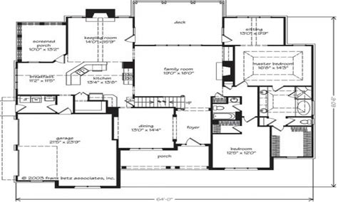 southern house floor plans southern living house plans home one story house plans