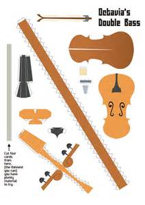 Paper Violin Template by Octavias Cello Papercraft By Kna On Deviantart