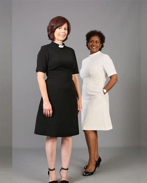 Nzns Black Dress knee length clergy dress black