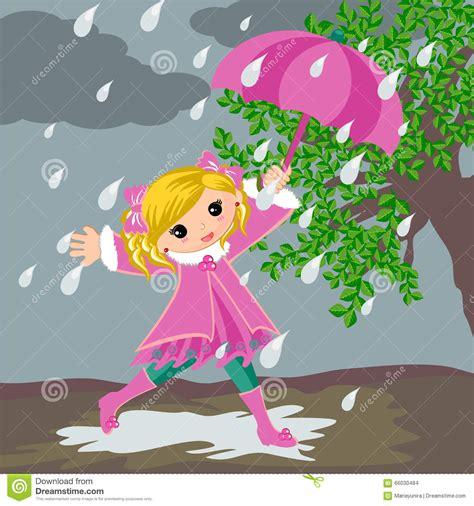 imagen de lunes lluvioso ni 241 a en d 237 a lluvioso ilustraci 243 n del vector imagen de