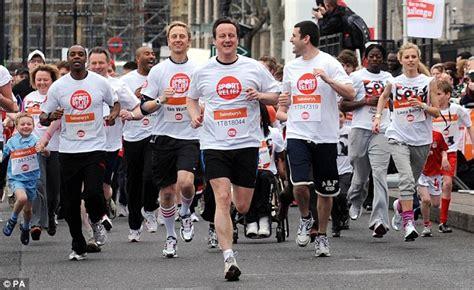 uk sports celebrities david cameron joins celebrities in sport relief mile