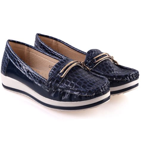 comfy flat shoes unze womens isa comfy flat casual shoes uk size 3 8 navy
