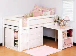 girls bed with storage kids beds with table amp storage home interiors