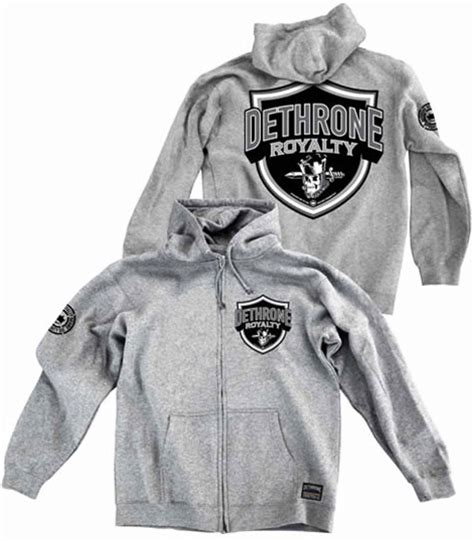 Jaket Sweater Hoodie Zipper Ufc Trainer King Clothing dethrone the nation hoodie