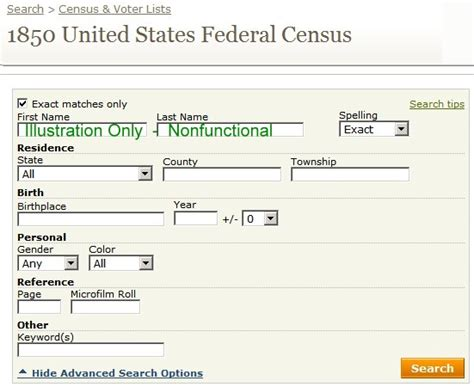 Federal Search By Name Us Federal Census Search 1790 1930