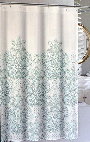 nicole miller shower curtains nicole miller fabric shower curtain aqua blue floral