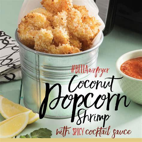 bellahousewares recipes waffles coconut popcorn shrimp with spicy cocktail sauce