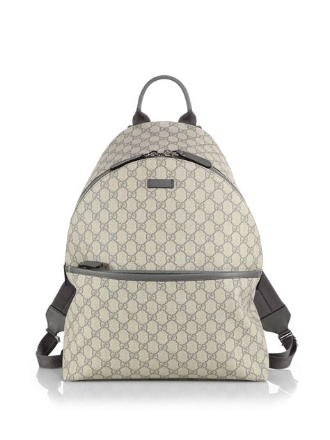 Tas Gucci Bag Logo Parasut lyst gucci gg supreme canvas backpack in gray for