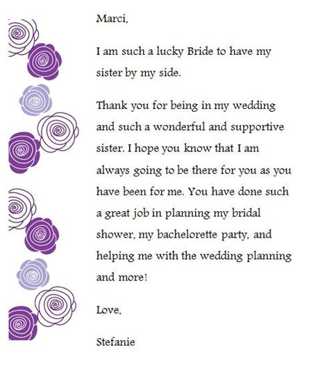thank you letter to my on my wedding day i created these thank you notes for my bridesmaids and