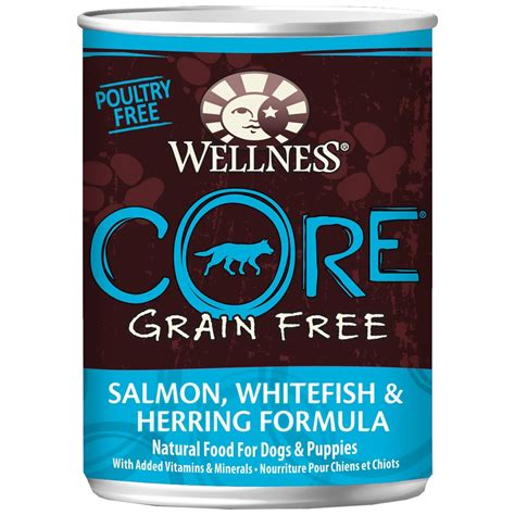 wellness grain free food wellness grain free canned food salmon whitefish herring 12 5 oz