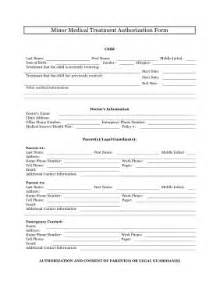 Transfer Guardianship Letter The Minor Treatment Authorization Form Allows The Parents And Guardians Of Minor