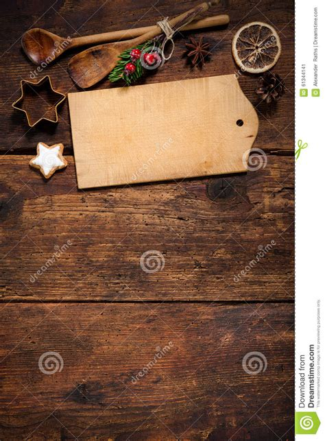 christmas menu card stock photo image