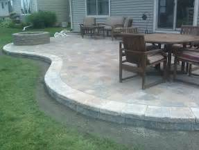 diy concrete paver patio home design ideas