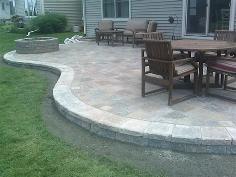 Concrete Patio With Pavers Concrete Paver Patio Ideas Home Design Ideas And Pictures