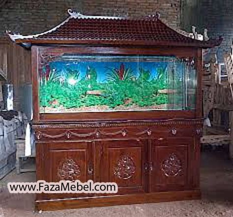 Meja Aquarium Kayu Minimalis meja aquarium jati ukir faza mebel furniture jepara