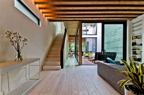 ecological house  montreal  contemporary exposed beams idesignarch interior design
